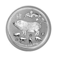 Australia Lunar II - Pig - 1 oz Silver 2019