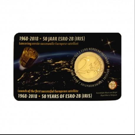"""Belgium 2018 - """"Satelite ESRO"""" - coincard (Dutch version)"""