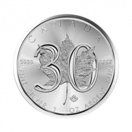 Javorjev list - 30 obletnica - 1 oz srebrnik 2019