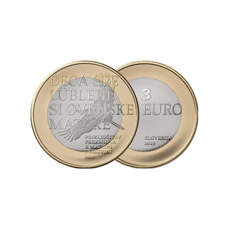 "Slovenia 3 euro 2019 - ""Prekmurje"" - UNC"