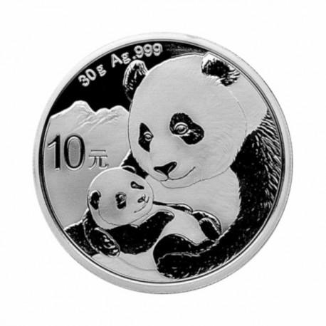 Kitajska Panda 30g srebrnik 2019
