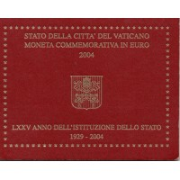 "Vatican 2004 - ""75th anniv. of the Vatican City State"" - UNC"