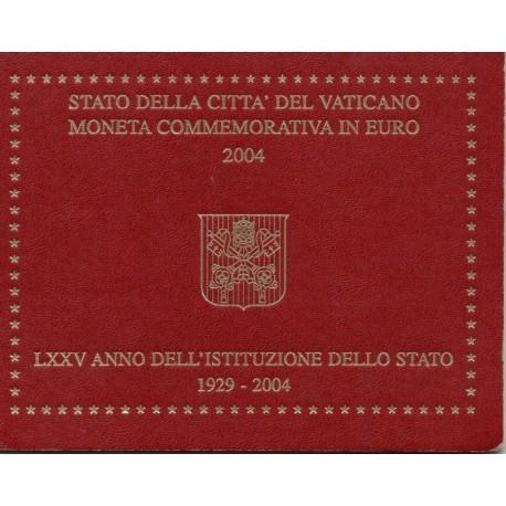 """Vatikan 2004 - """"75-ta obletnica ustanovitve države"""" - UNC"""