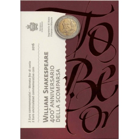 "San Marino 2016 - ""William Shakespeare"" - UNC"