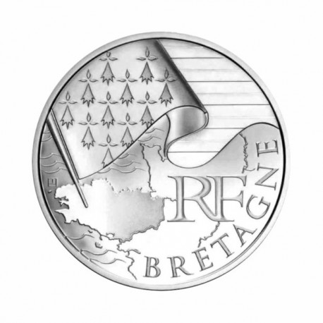"France 10 euro 2010 ""Bretagne"" - UNC"