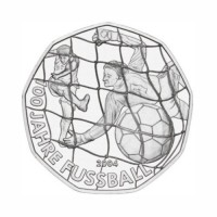 "Austria 5 euro 2004 - ""100 Years Football"" - UNC"