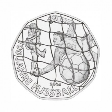 "Austria 5 euro 2004 - ""100 Years Football"" - UNC"