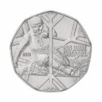 """Avstrija 5 evro 2005 - """"100 let smučanja"""" - UNC"""