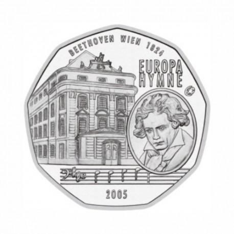 """Austria 5 euro 2005 - """"European Anthem"""" - UNC"""
