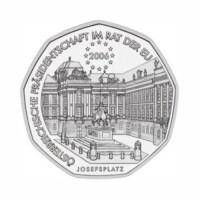 "Avstrija 5 evro 2006 - ""Predsedovanje EU"" - UNC"