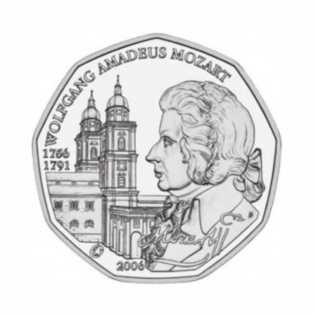 "Austria 5 euro 2006 - ""Mozart"" - UNC"