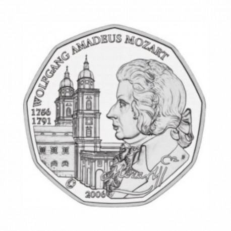 "Avstrija 5 evro 2006 - ""Mozart"" - UNC"
