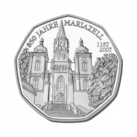 """Austria 5 euro 2007 - """"Mariazell"""" - UNC"""