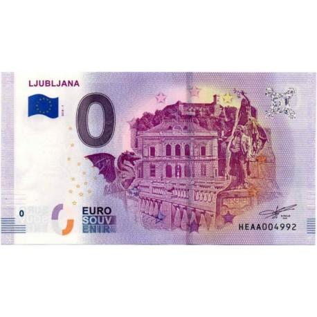 Slovenija 0 EUR Bankovec - Ljubljana - UNC