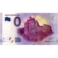 Nemčija 2017 - 0 Euro bankovec - Burg Kriebstein - UNC