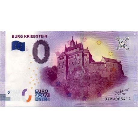 Germany 2017 - 0 Euro banknote - Burg Kriebstein - UNC