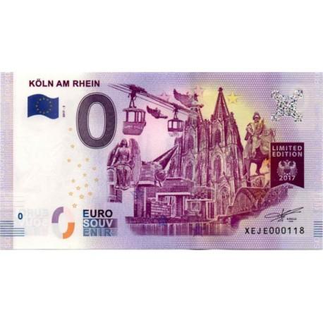 Germany 2017 - 0 Euro banknote - Koln am Rhein - UNC