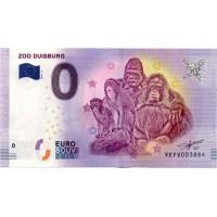 Nemčija 2017 - 0 Euro bankovec - Zoo Duisburg - UNC