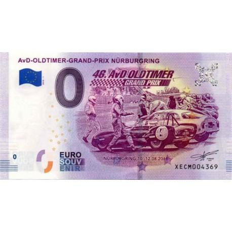 Germany 2018 - 0 Euro banknote - AvD-Oldtimer-Grand-Prix Nürburgring - UNC