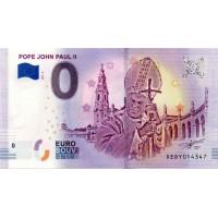 Nemčija 2018 - 0 Euro bankovec - Pope John Paul II - UNC