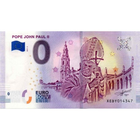 Germany 2018 - 0 Euro banknote - Pope John Paul II - UNC