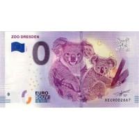 Nemčija 2018 - 0 Euro bankovec - Zoo Dresden - UNC