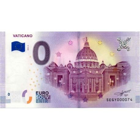 Vatican 2018 - 0 Euro banknote - Vaticano - UNC