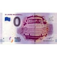 Nemčija 2019 - 0 Euro bankovec - 30 Jahre Mauerfall - UNC