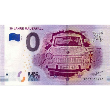 Germany 2019 - 0 Euro banknote - 30 Jahre Mauerfall - UNC