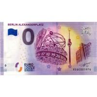 Nemčija 2019 - 0 Euro bankovec - Berlin Alexanderplatz - UNC