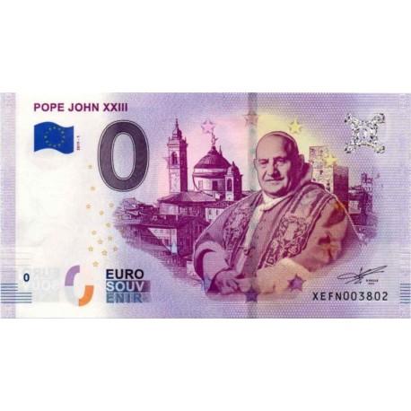 Germany 2019 - 0 Euro banknote - Pope John XXIII - UNC