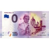 Nemčija 2019 - 0 Euro bankovec - Pope Paul VI - UNC
