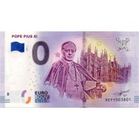 Germany 2019 - 0 Euro banknote - Pope Pius XI - UNC