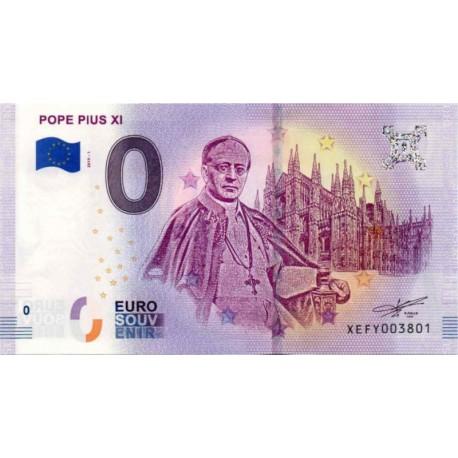 Nemčija 2019 - 0 Euro bankovec - Pope Pius XI - UNC