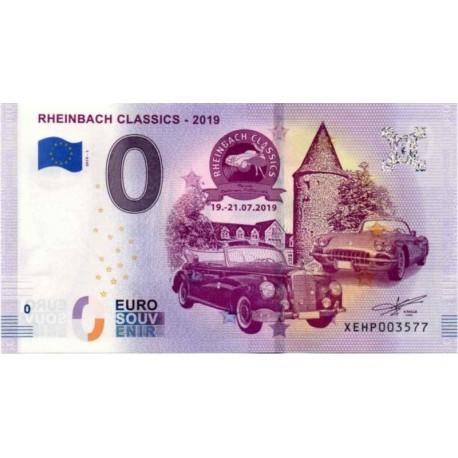 Nemčija 2019 - 0 Euro bankovec - Rheinbach Classics - UNC