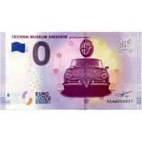 Nemčija 2019 - 0 Euro bankovec - Technik Museum Sinsheim Alfa Romeo - UNC
