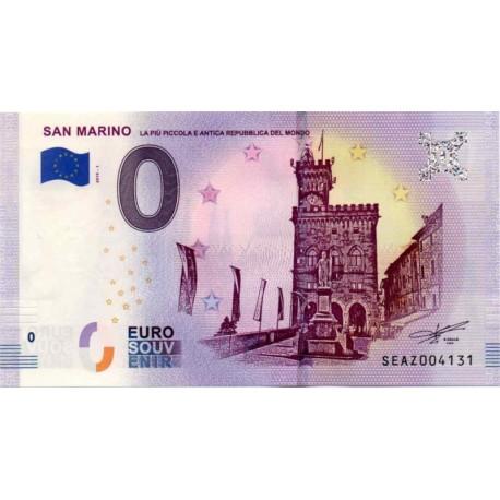 San Marino 2019-1 - 0 Euro bankovec - San Marino - UNC