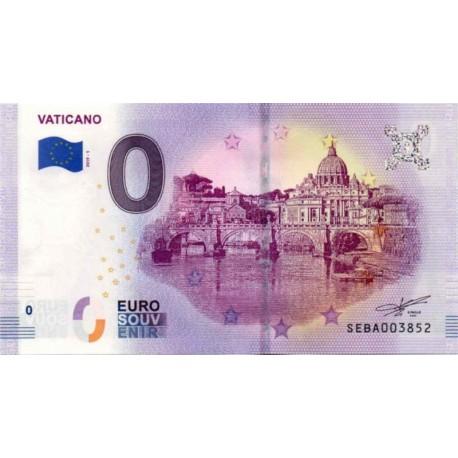 Vatican 2019 - 0 Euro banknote - Vaticano 1 - UNC