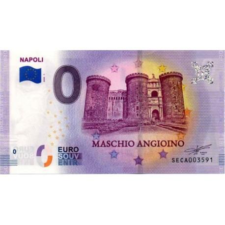 Italija 2020 - 0 Euro bankovec - Napoli - UNC