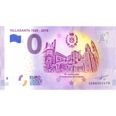 Italy 2019 - 0 Euro Banknote - Villasanta 1929 2019 - UNC