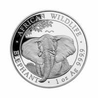 Somalija Slon 1 oz srebrnik 2021