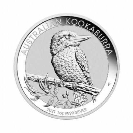 Avstralska Kookaburra 1 oz srebrnik 2021