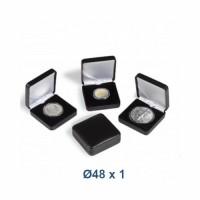 Škatlica za kovanec NOBILE 48 mm - črna