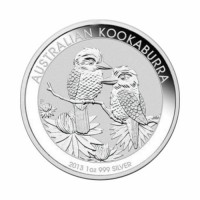 Avstralska Kookaburra 1 oz srebrnik 2013