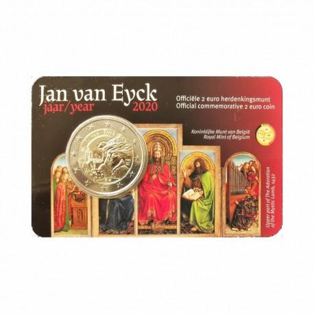 """Belgium 2020 - """"Jan van Eyck"""" - coincard (Duch version)"""