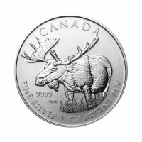 Canada - Wildlife - Moose 1 oz Silver 2012