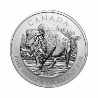 Canada - Wildlife - Bison 1 oz Silver 2013