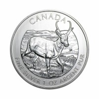 Canada - Wildlife - Antelope 1 oz Silver 2013
