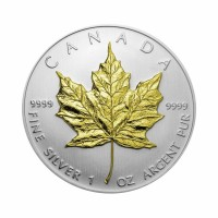 Canada Maple Leaf 1 oz Silver 2011 - Gilded