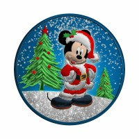 Niue 2019 - Mickey Christmas - Metalik modra z diamantnim prahom 1 Oz Srebrnik
